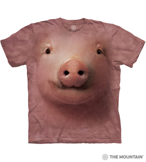 bac039624b7 The Mountain Adult Unisex T-Shirt - Pig Face