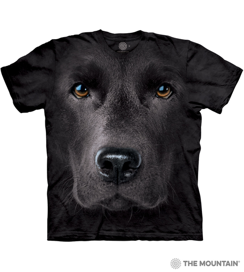 f067f27fb6cdb The Mountain Adult Unisex T-Shirt - Black Lab Face