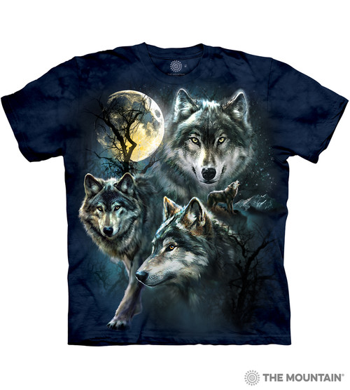 17457be8 The Mountain Adult Unisex T-Shirt - Moon Wolves Collage