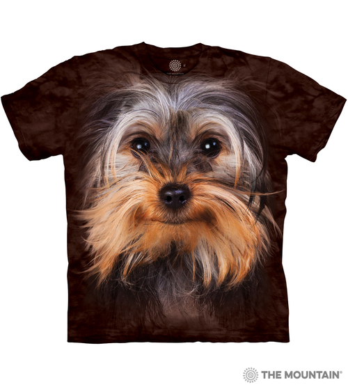 6a949fd87 The Mountain Adult Unisex T-Shirt - Yorkshire Terrier Face