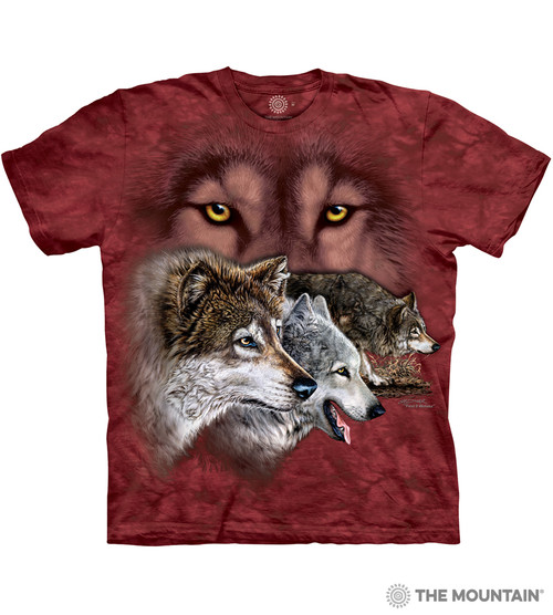 f3251a9fc25b The Mountain Adult Unisex T-Shirt - Find 9 Wolves