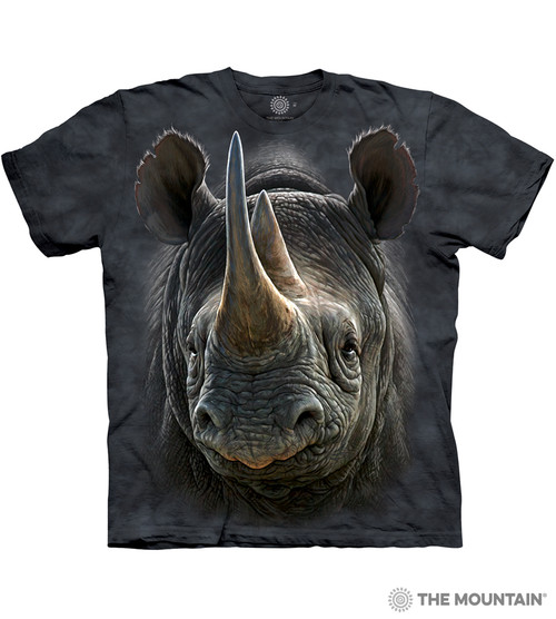 1481e43a The Mountain Adult Unisex T-Shirt - Black Rhino