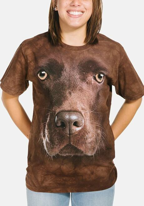 3550 All Sizes Big Chocolate Lab Face Labrador Retriever The Mountain T-Shirt