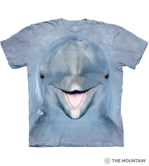 6e1b3c31f7070 The Mountain Adult Unisex T-Shirt - Dolphin Face
