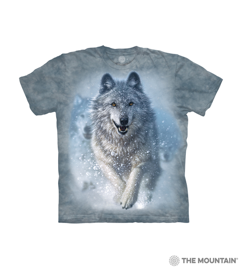 The Mountain Three Wolf Howling Full Moon Wolves T-Shirt Adult Sizes S-3XL