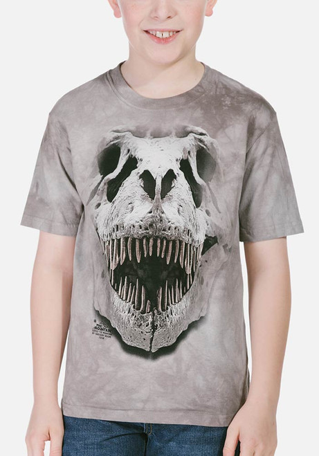 838d1903d The Mountain Kid's T-Shirt - T-Rex Big Skull