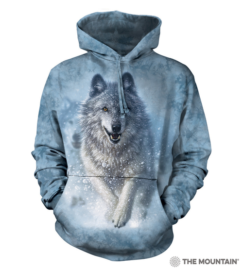 Blue, The Mountain Moon Wolves Col Hsw Adult Hoodie