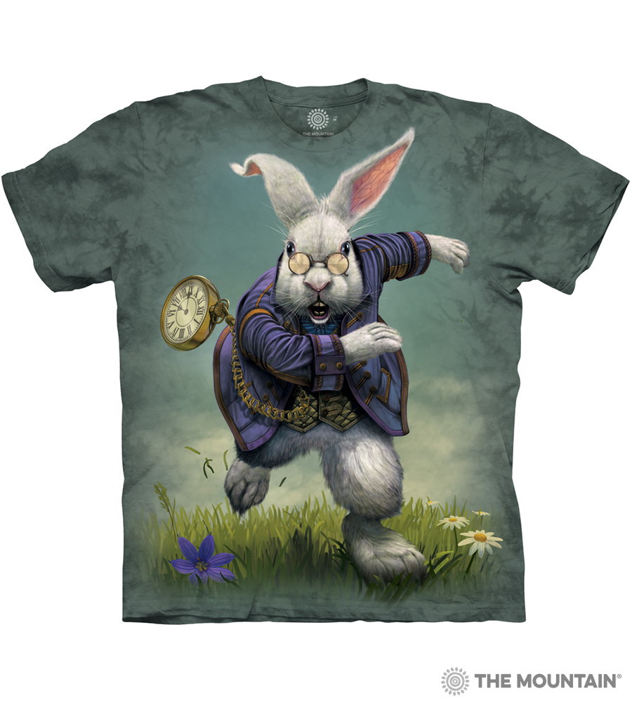 bb3ec9c8bc0 The Mountain Adult Unisex T-Shirt - White Rabbit
