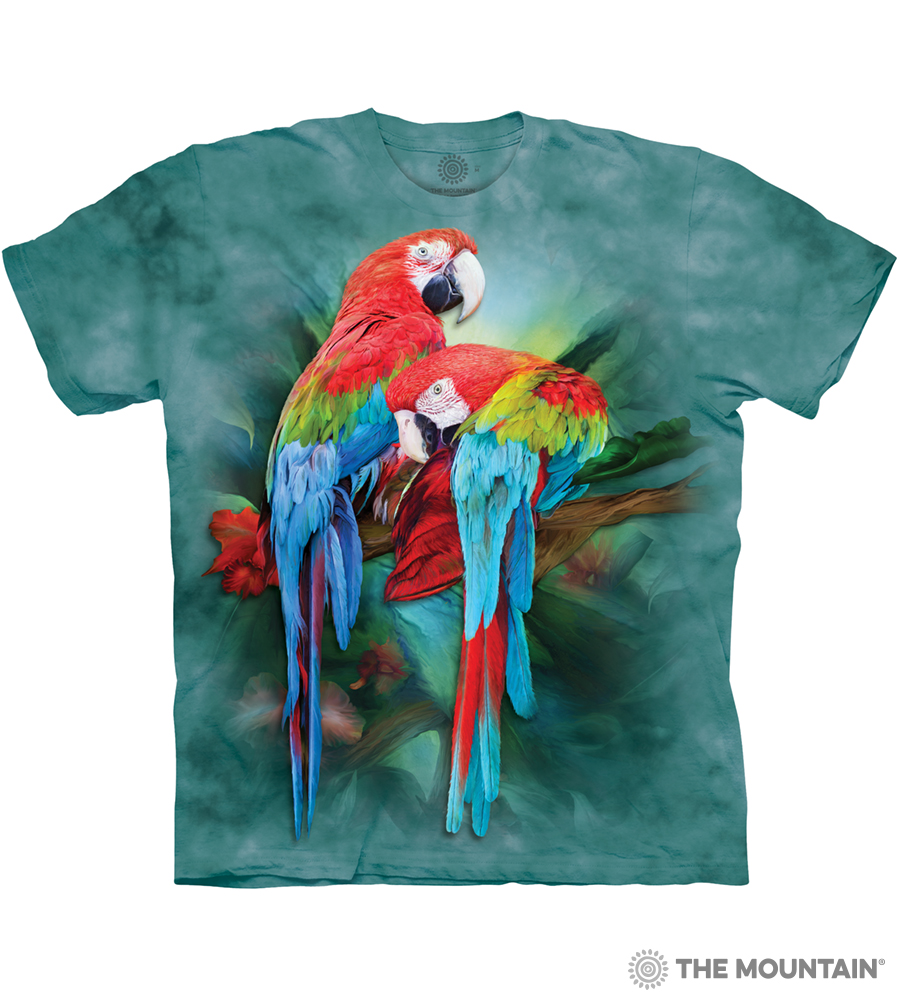 f3d7807b2 The Mountain Adult Unisex T-Shirt - Macaw Mates