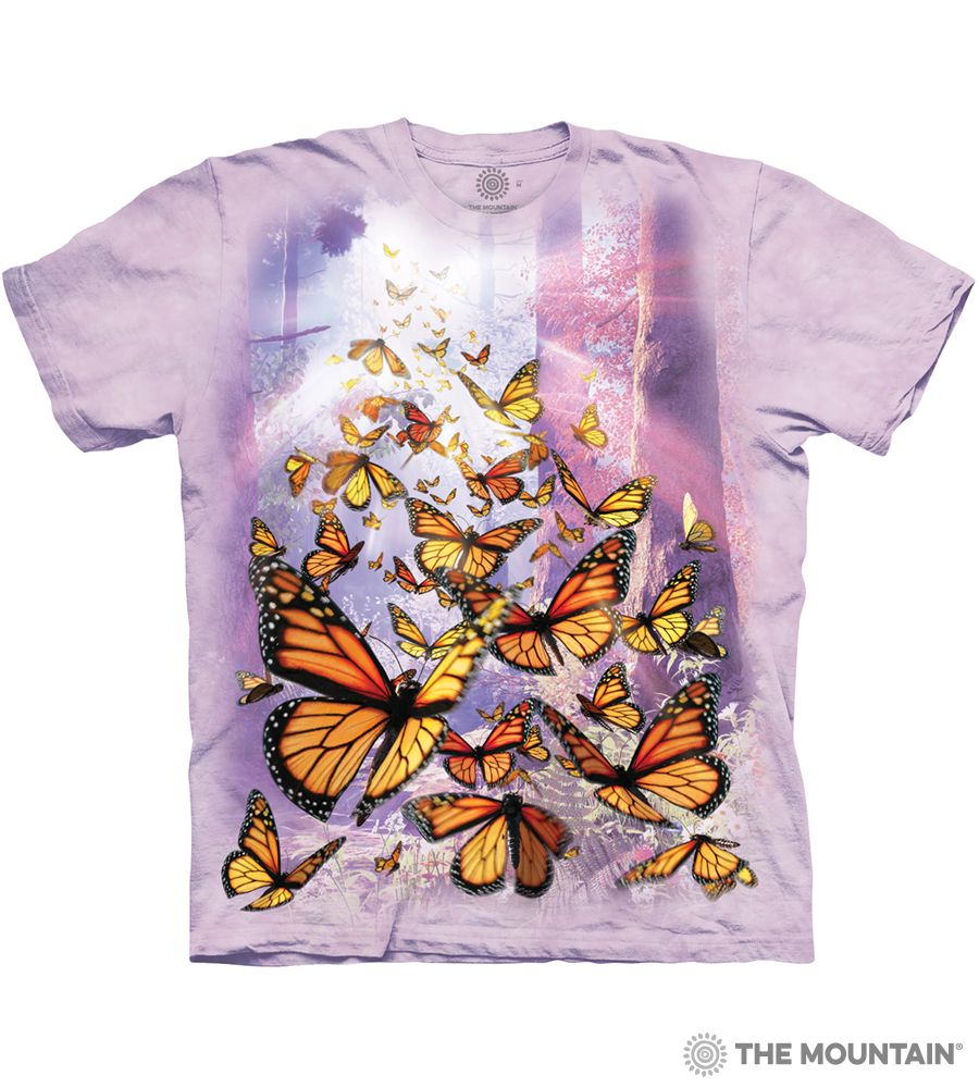 e497a702bfa The Mountain Adult Unisex T-Shirt - Monarch Butterflies