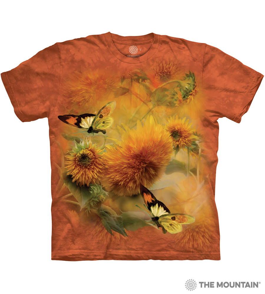 0eb6d1bb97d The Mountain Adult Unisex T-Shirt - Sunflowers and Butterflies