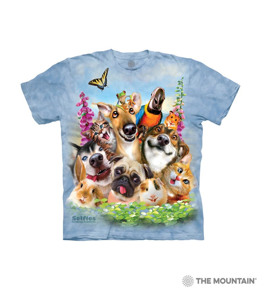 ecaf9da2 The Mountain Kid's T-Shirt - Pet Selfie