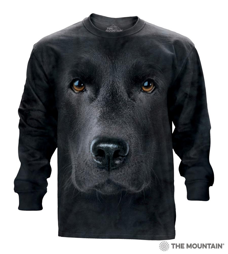 98e86edb The Mountain Adult Long Sleeve T-Shirt - Black Lab Face
