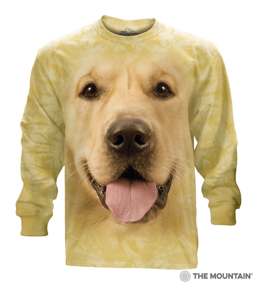 95ad794f0b8b The Mountain Adult Long Sleeve T-Shirt - Big Face Golden