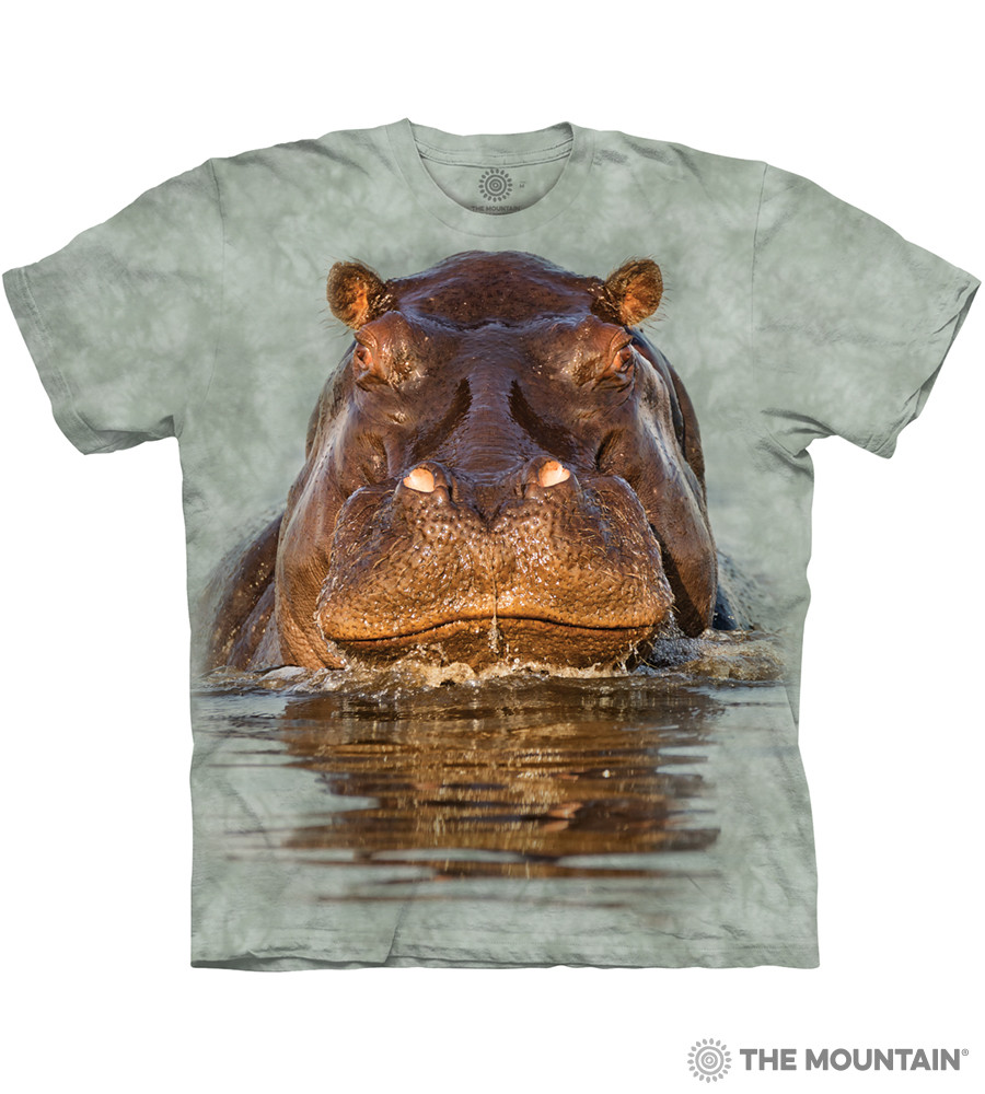 905ad0e03 The Mountain Adult Unisex T-Shirt - Hippo