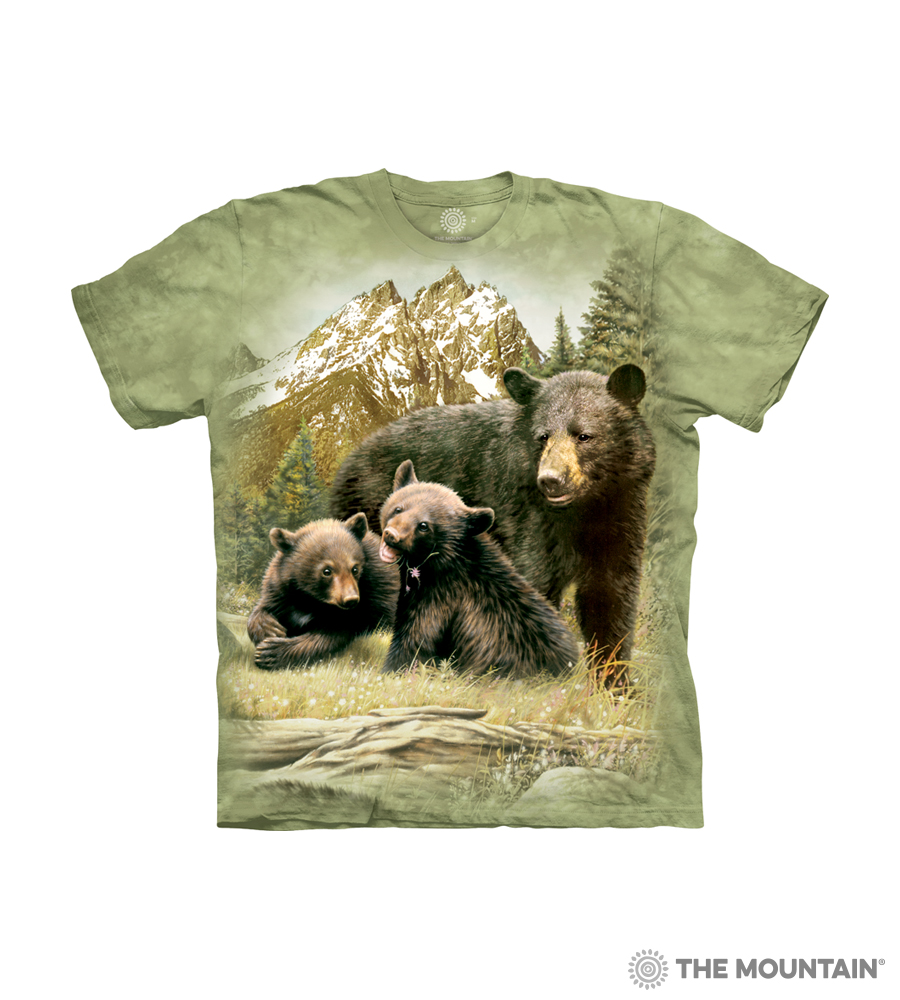a2baf7af The Mountain Kid's T-Shirt - Black Bear Family