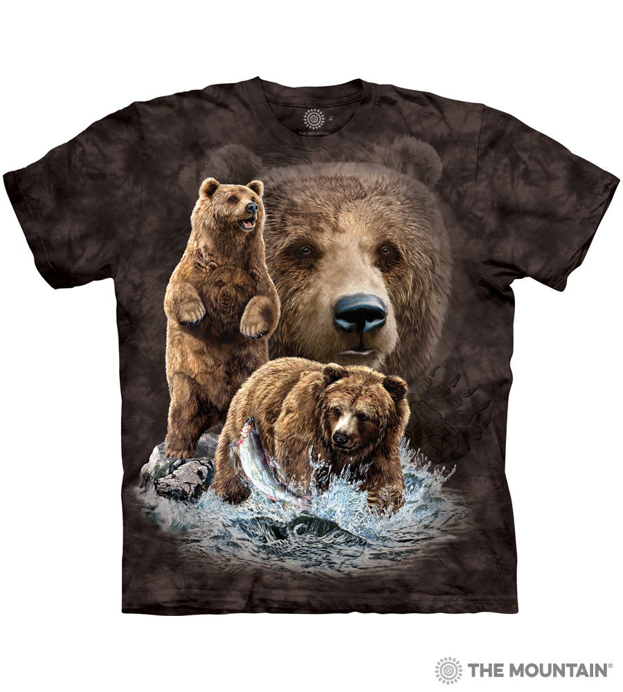 ccd94b36 The Mountain Made-to-Order T-Shirt - Find 10 Brown Bears - MM