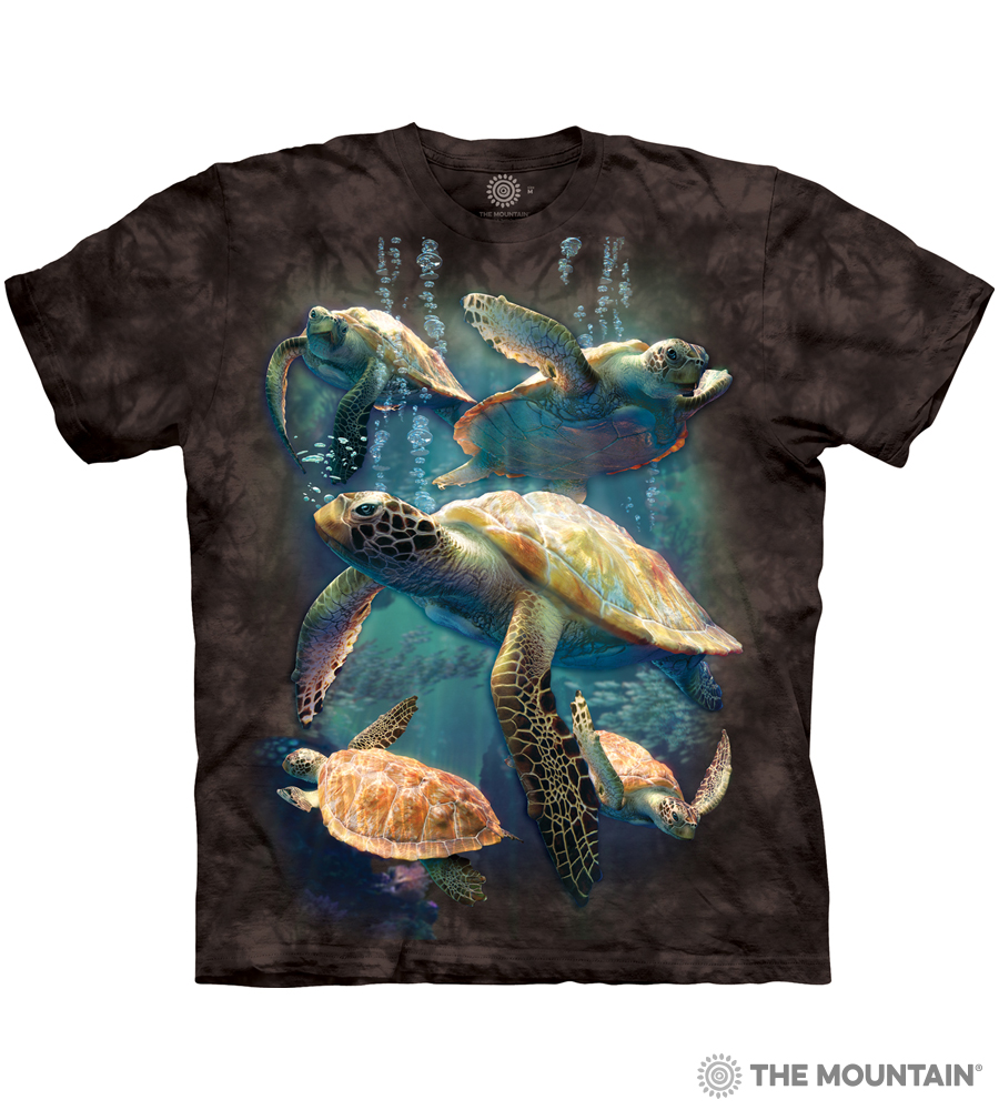 74fb63834 The Mountain Made-to-Order T-Shirt - Sea Turtle Family - MM