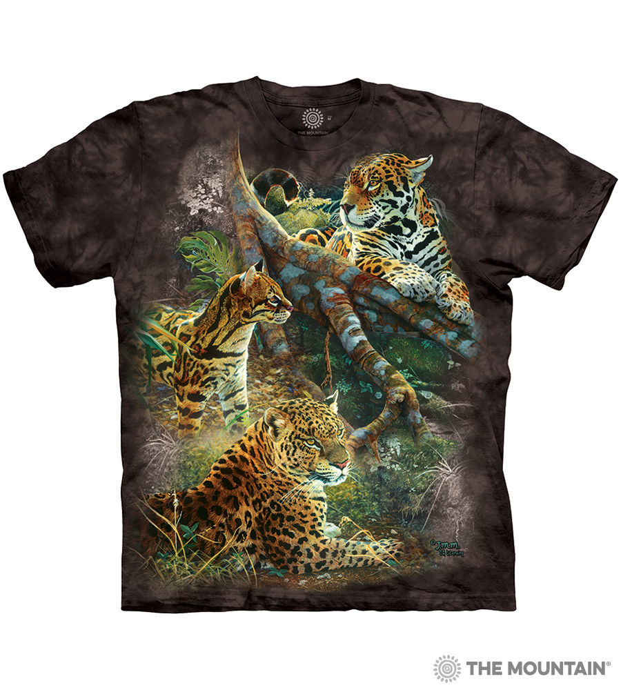 093bc312 The Mountain Made-to-Order T-Shirt - Three Jungle Cats - MM