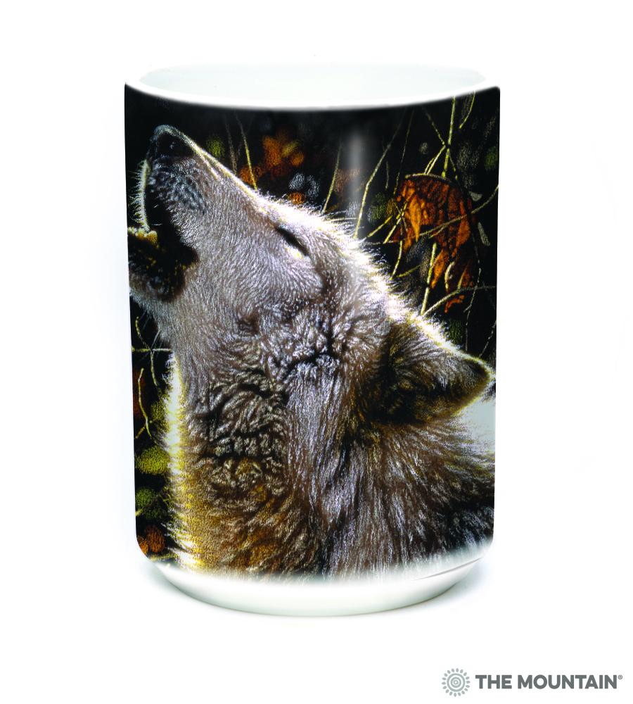 88825371e4 The Mountain Song Of Autumn Black Ceramic Coffee Mug, 15OZ