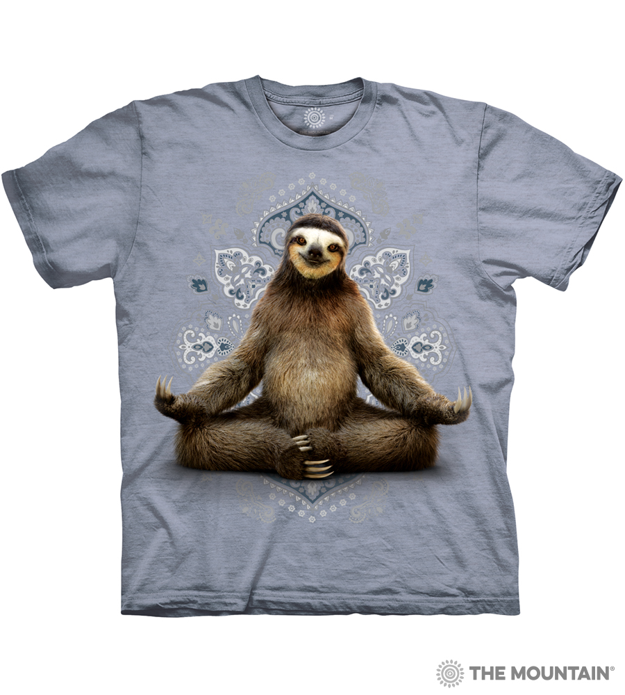 e96e0ae8e18 The Mountain Adult Unisex T-Shirt - Vriksasana Sloth