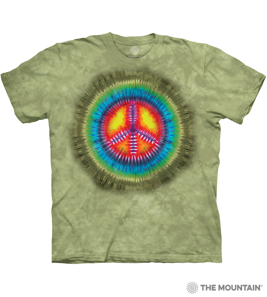 2b23fe9d The Mountain Adult Unisex T-Shirt - Peace Tie Dye