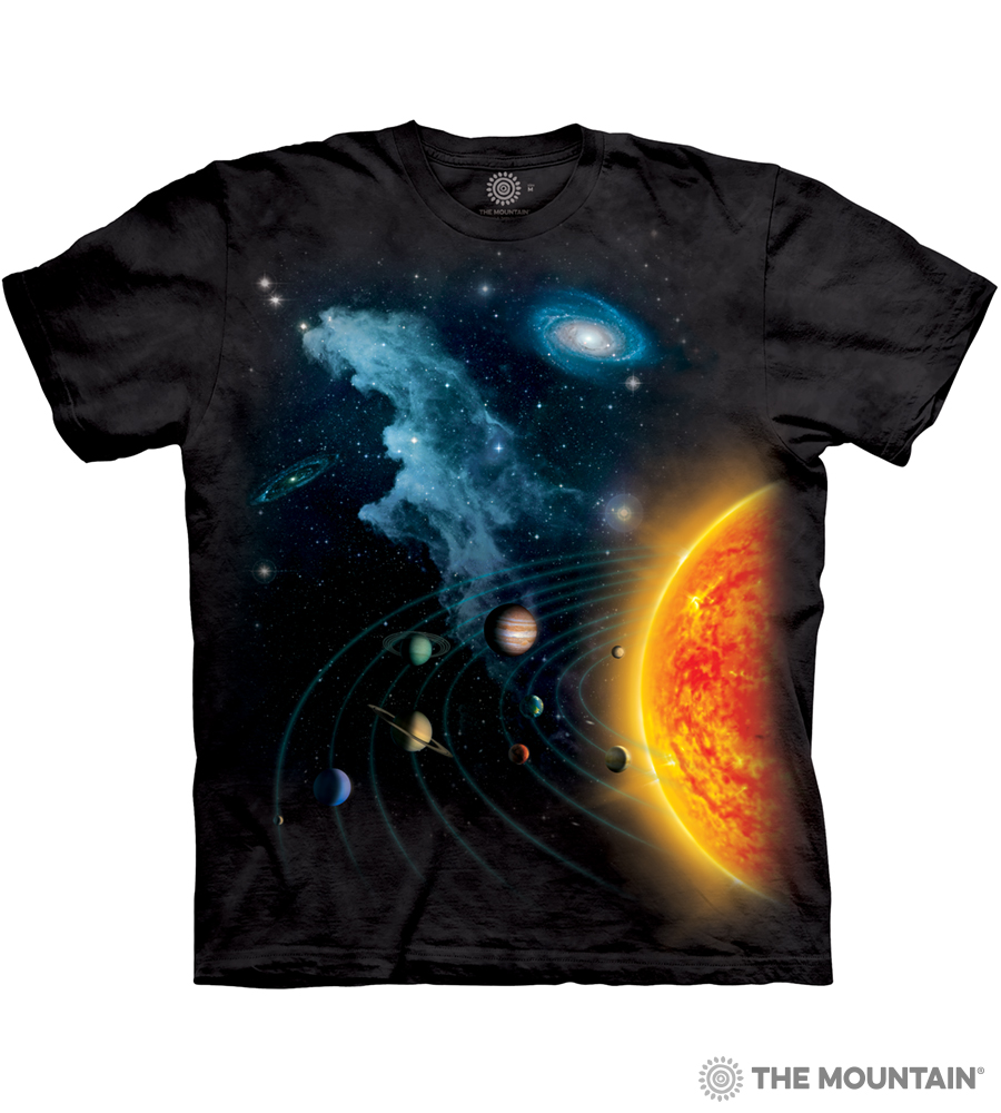 6c7925c0 The Mountain Adult Unisex T-Shirt - Solar System