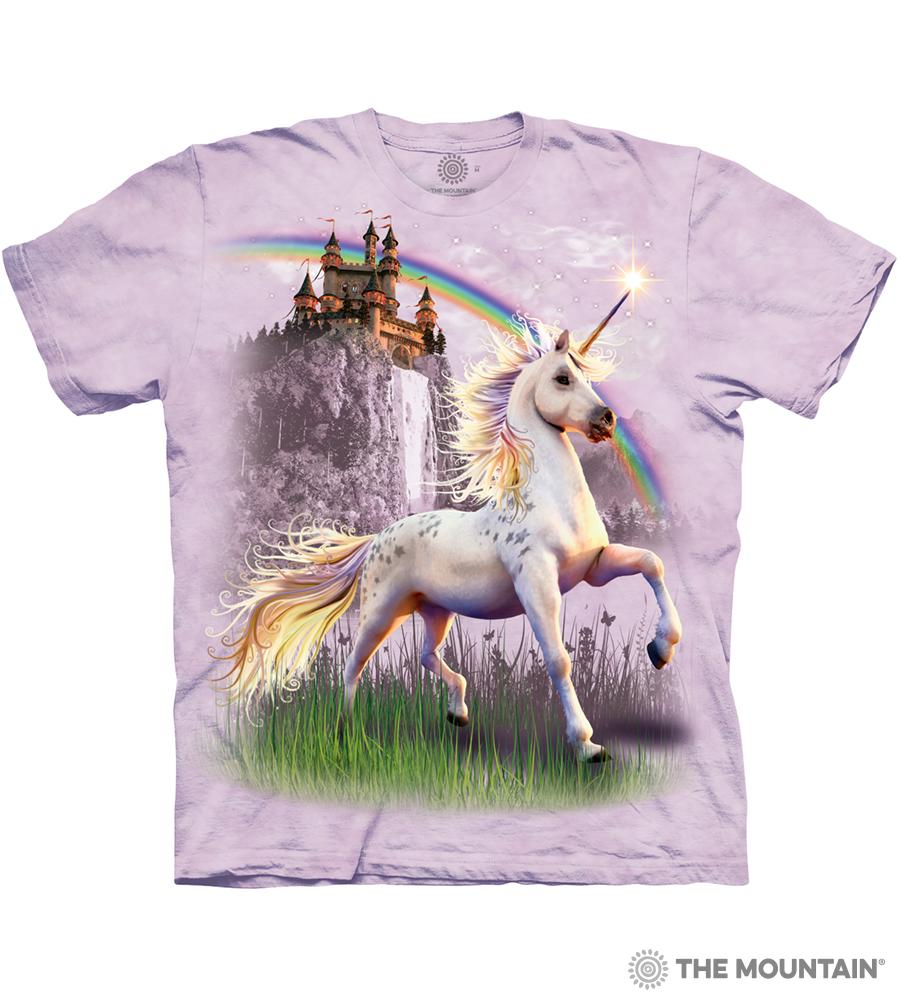 e8702e71bdcdd The Mountain Adult Unisex T-Shirt - Unicorn Castle