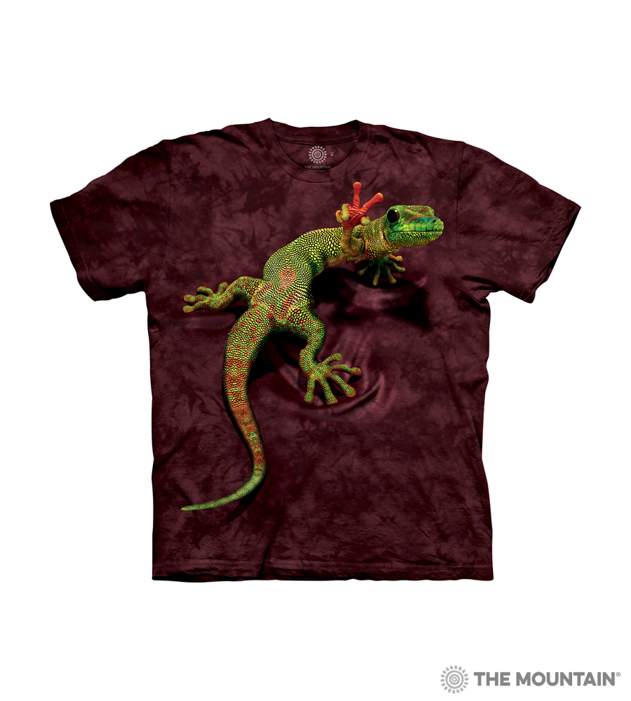 666b53945 The Mountain Kid's T-Shirt - Peace Out Gecko