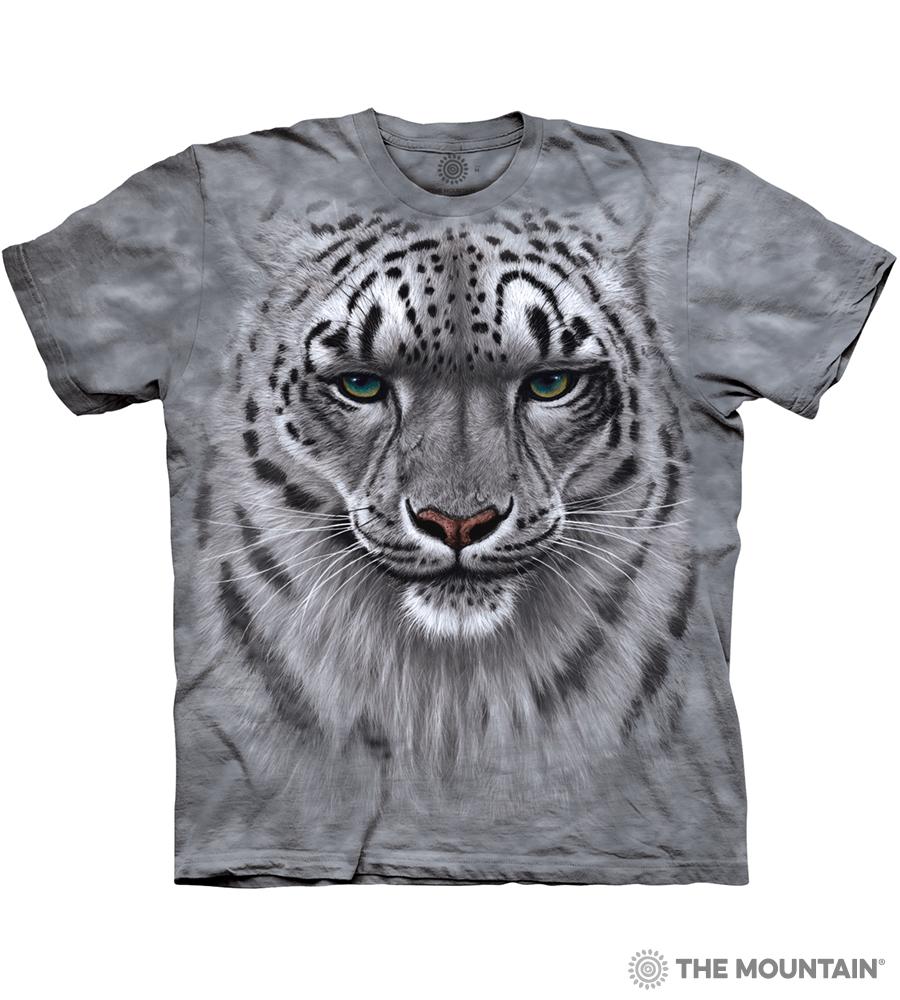 fe853a51f504 The Mountain Adult Unisex T-Shirt - Snow Leopard Portrait