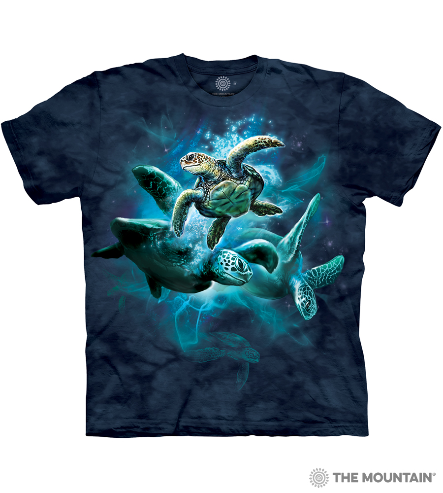 b2bcfd71d The Mountain Adult Unisex T-Shirt - Sea Turtle Collage