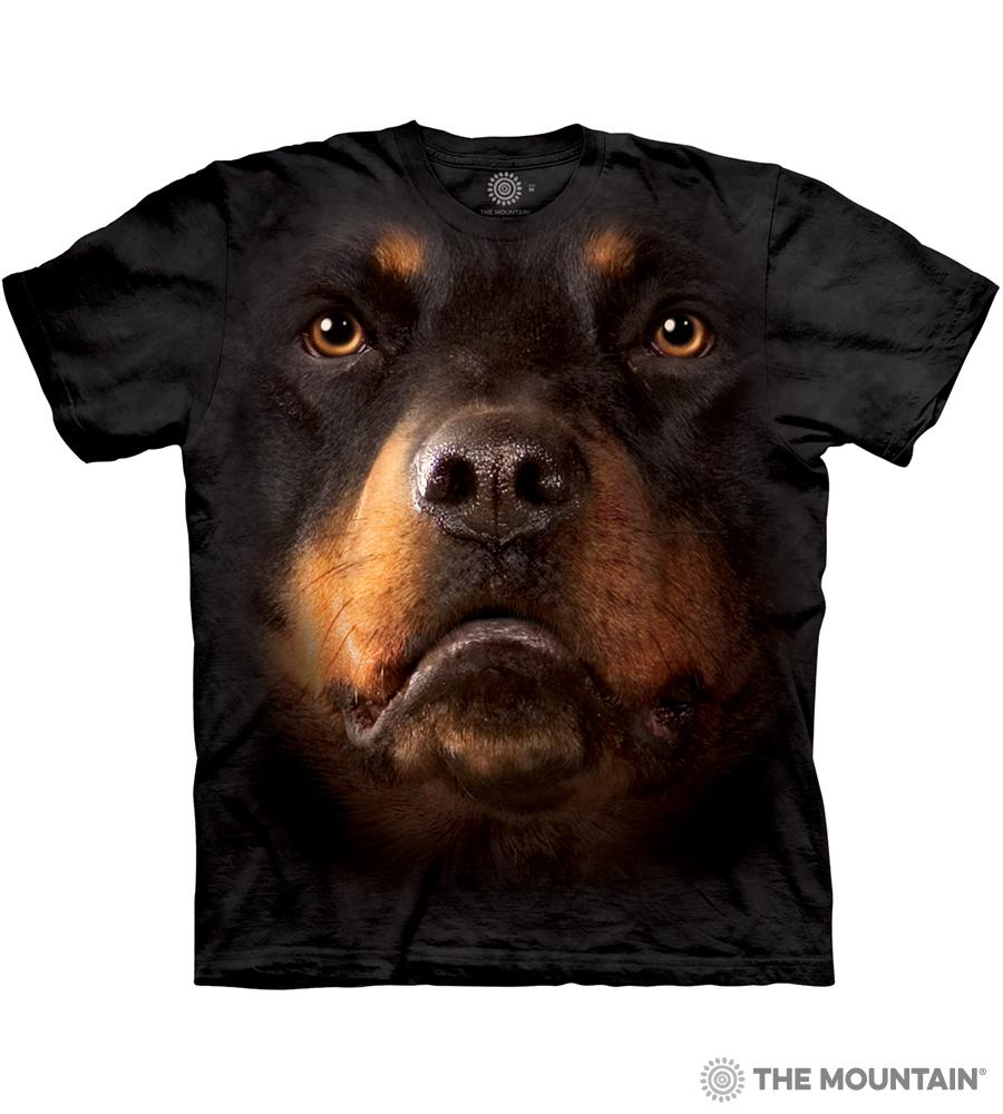 034938e8 The Mountain Adult Unisex T-Shirt - Rottweiler Face