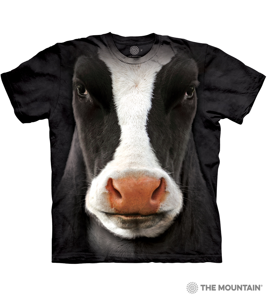 The Mountain Adult Unisex T-Shirt - Black Cow Face ca4ffa7ffc91