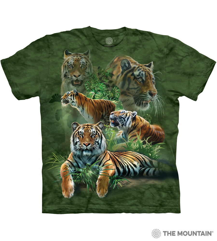661b55a7 The Mountain Adult Unisex T-Shirt - Jungle Tigers