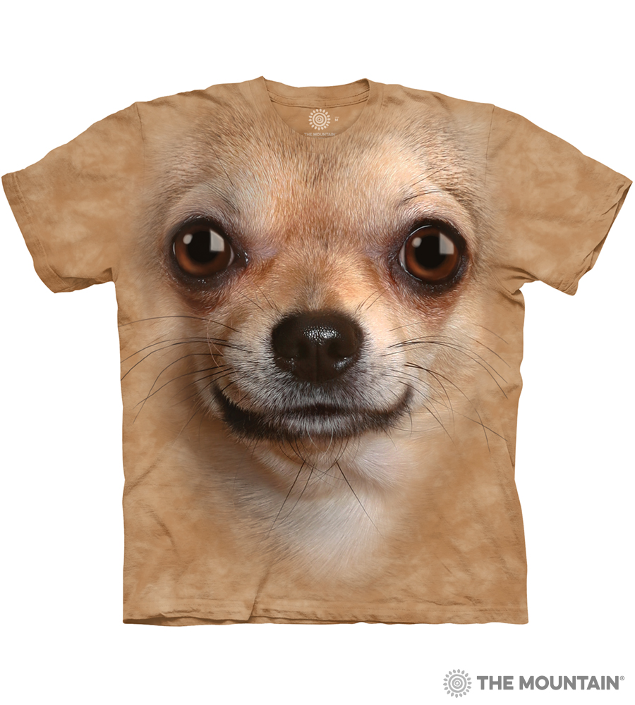 b4f905a6 The Mountain Adult Unisex T-Shirt - Chihuahua Face
