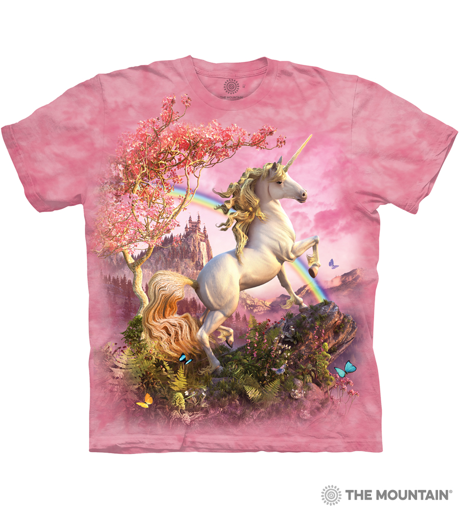 c8f1af631a6 The Mountain Adult Unisex T-Shirt - Awesome Unicorn