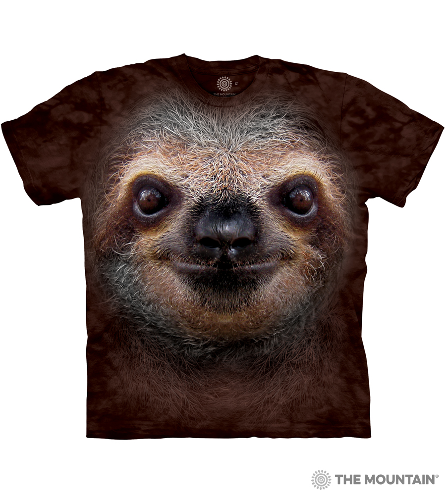34729c1b862 The Mountain Adult Unisex T-Shirt - Sloth Face