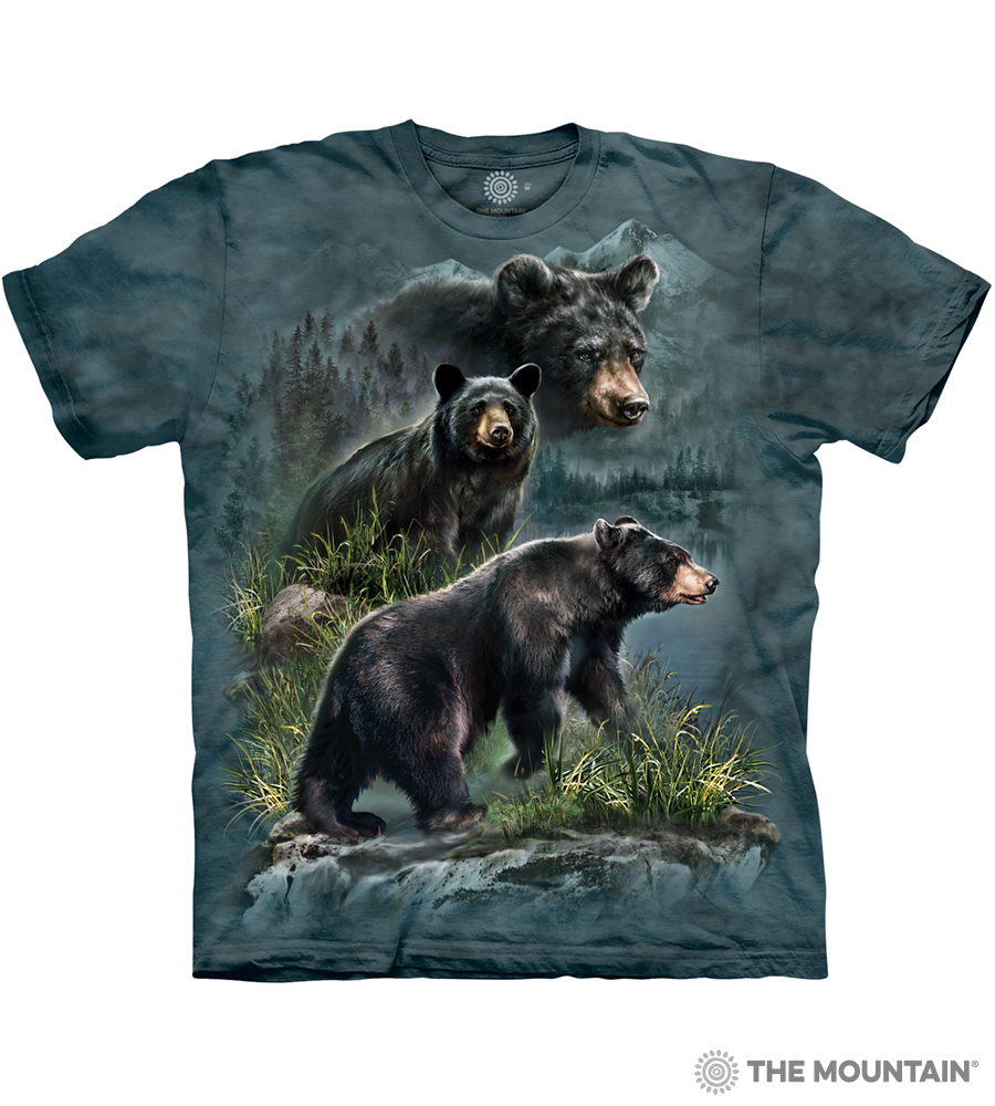 628ad897 The Mountain Adult Unisex T-Shirt - Three Black Bears