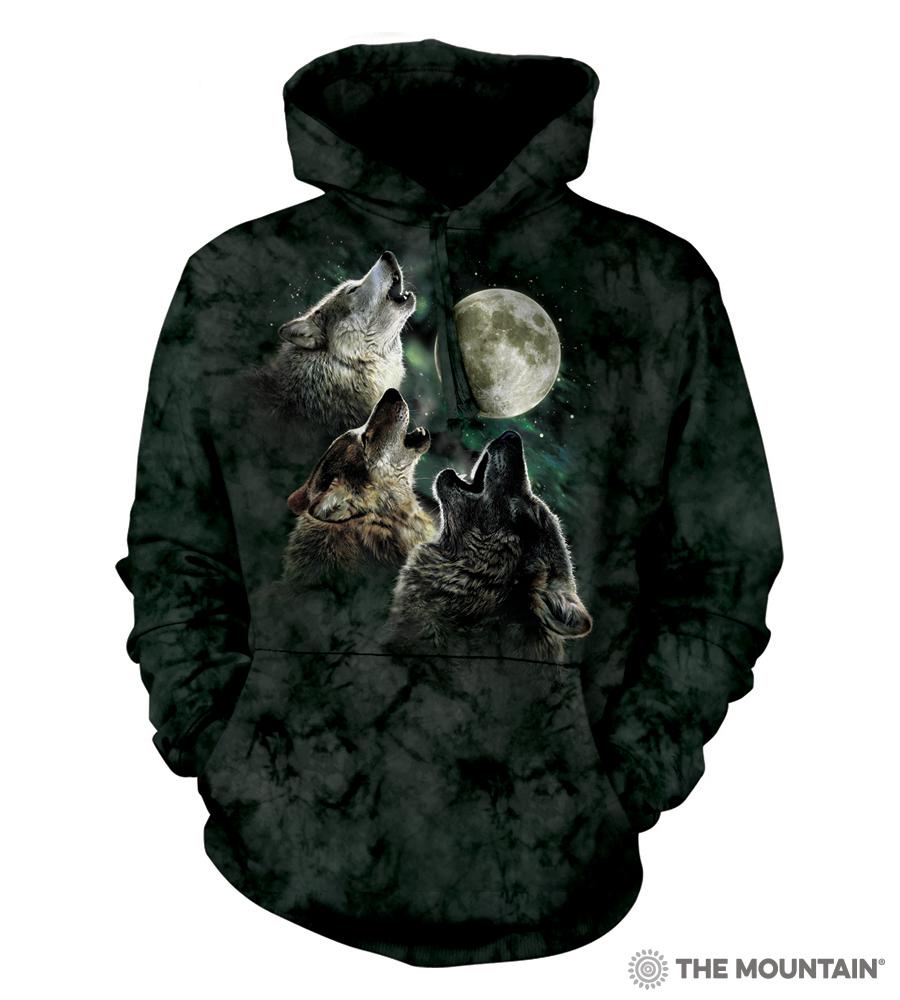 356237c45cf The Mountain Adult Unisex Hoodie Sweatshirt - Three Wolf Moon