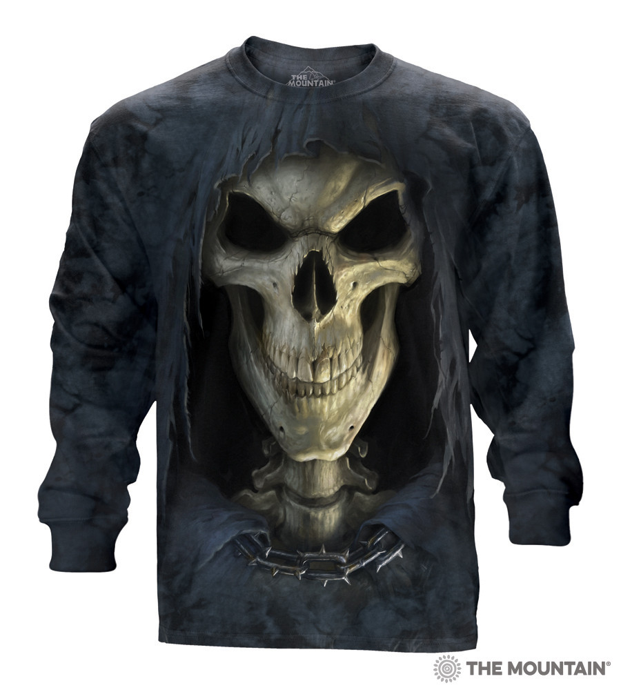 The Mountain Big Face Skull Human Head Death T-Shirt Adult Sizes