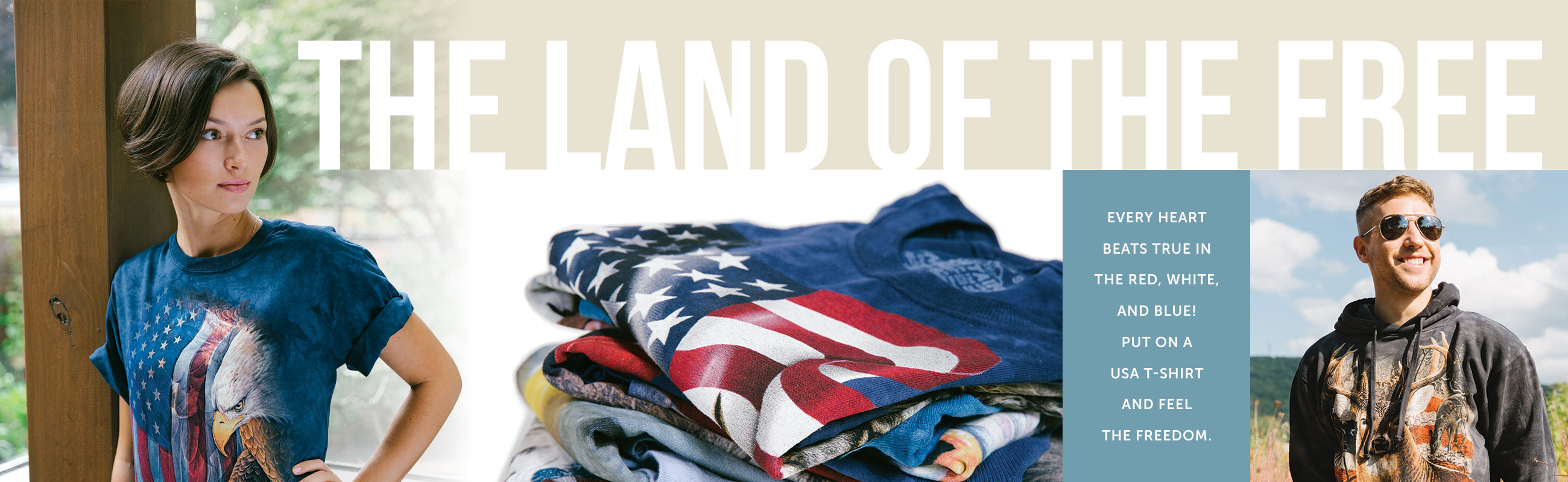 Patriotic T-Shirts by The Mountain
