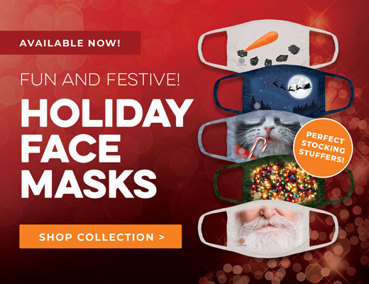 New Holiday Face Masks