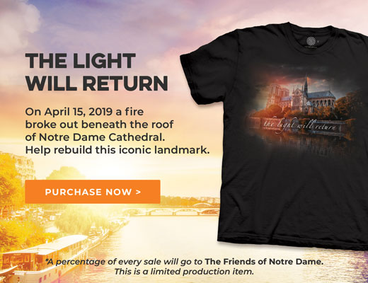 e03440b47231 The Mountain Spring 2019 Collection The Mountain Adult Unisex T-Shirt -  Notre Dame Tribute