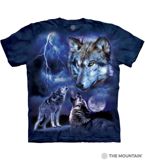 The Mountain Adult Unisex T Shirt Wolves of the Storm