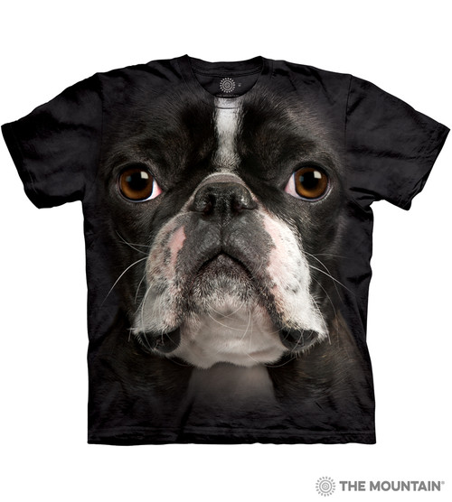 a74c14984 The Mountain Adult Unisex T-Shirt - Boston Terrier Face