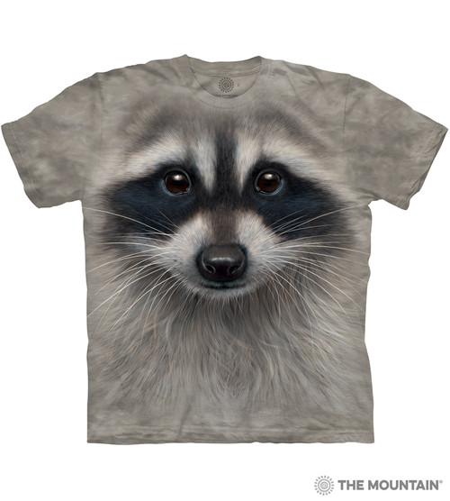 cd2616fbd3 The Mountain Adult Unisex T-Shirt - Raccoon Face