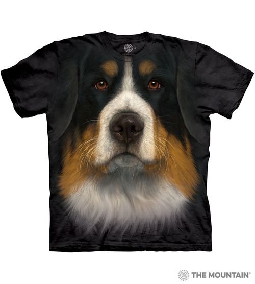 The Mountain Adult Unisex T Shirt Bernese Mountain Dog Face
