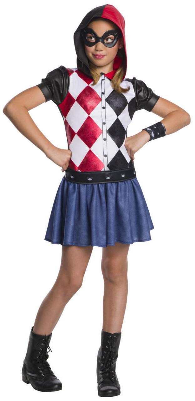 Rubies Dc Comics Harley Quinn Hoodie Dress Child Girls Halloween