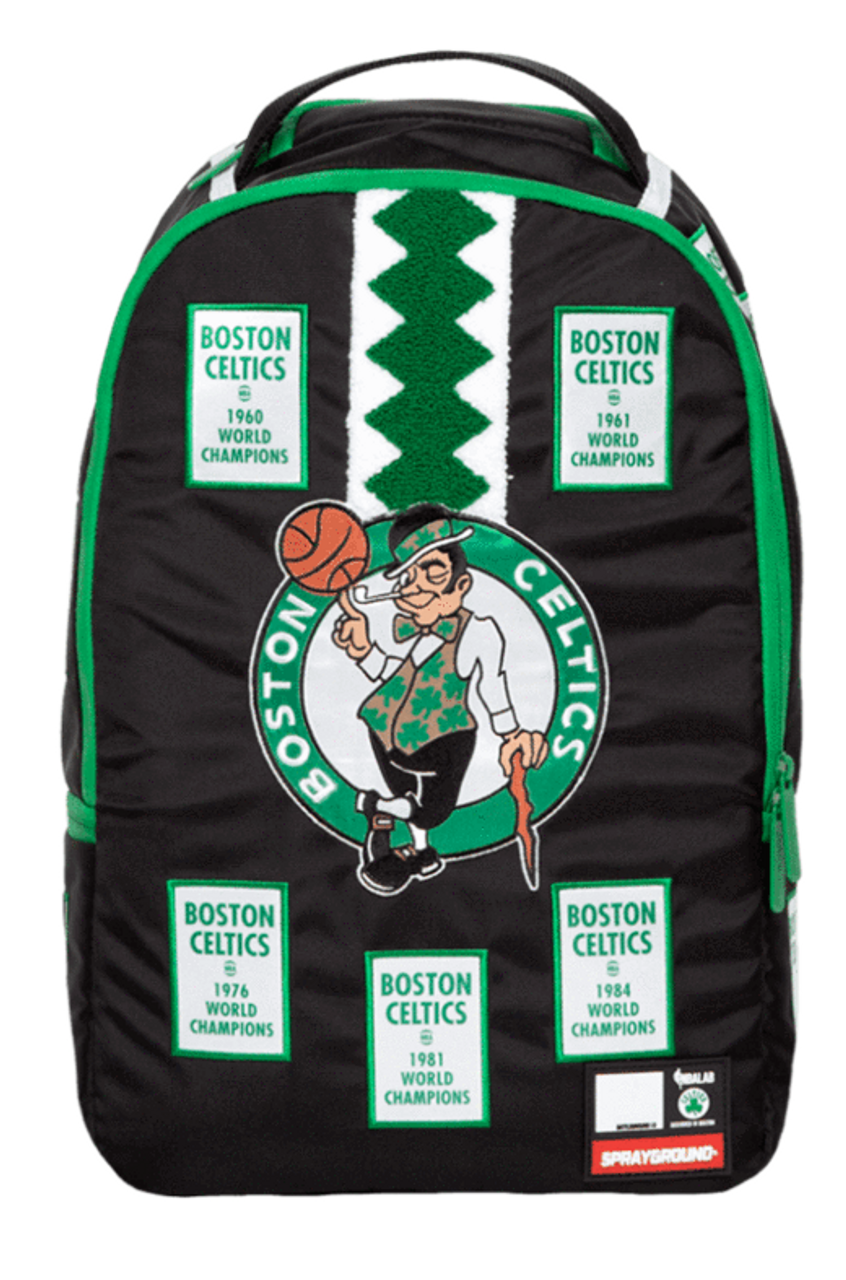 186e07f495c Sprayground NBA Lab Celtics Banner Patches Sport Basketball Book Bag  Backpack