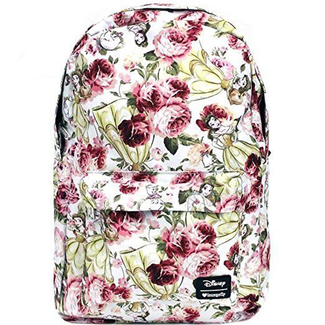 Loungefly Disney Beauty and the Beast Belle Floral Womens Backpack WDBK0348  - Fearless Apparel